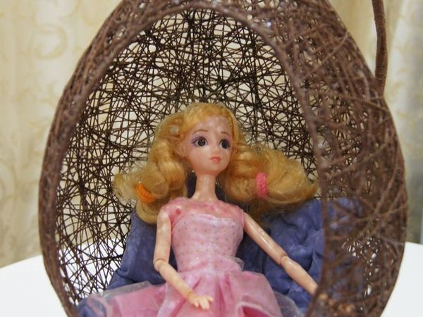 How to Make an Unusual Hanging Egg Chair for Dolls | Livemaster - handmade