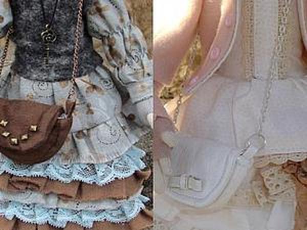 Маленькая сумочка для куколки своими руками   Ярмарка Мастеров - ручная работа, handmade