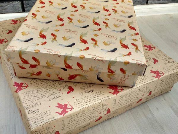 Простой способ сделать упаковочную коробку своими руками | Ярмарка Мастеров - ручная работа, handmade
