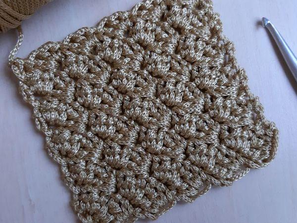 Плотный узор крючком Веер | Ярмарка Мастеров - ручная работа, handmade
