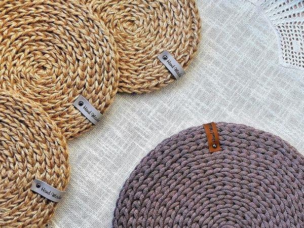 Как сделать салфетку/подставку из джута | Ярмарка Мастеров - ручная работа, handmade