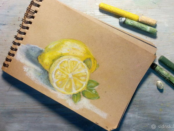 Рисуем лимоны масляной пастелью | Ярмарка Мастеров - ручная работа, handmade