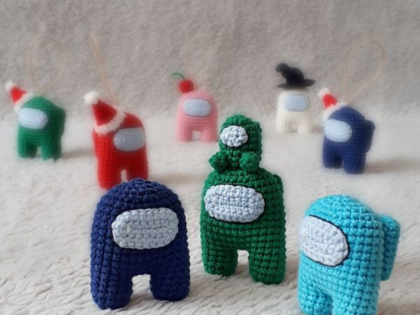 Вяжем крючком «Among us» | Ярмарка Мастеров - ручная работа, handmade