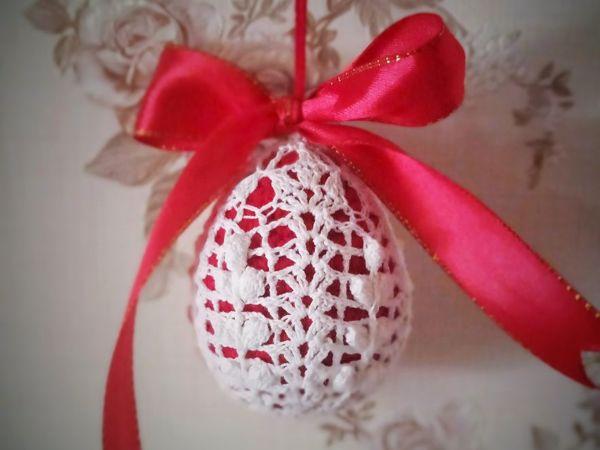 Вязаное яичко  «Веточка вербы» | Ярмарка Мастеров - ручная работа, handmade