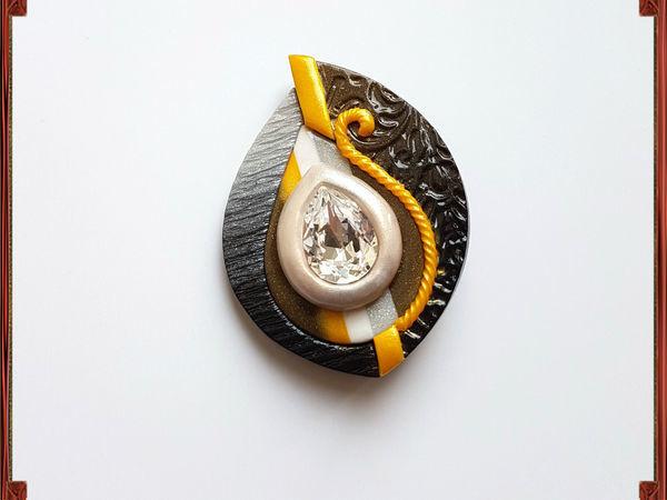 Создаем брошь из полимерной глины с кристаллом Сваровски | Ярмарка Мастеров - ручная работа, handmade