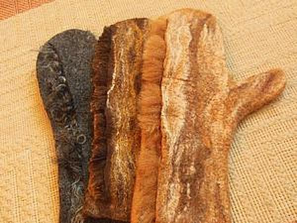 Валяем варежки с флисом   Ярмарка Мастеров - ручная работа, handmade