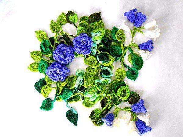Оригинальные шарфики!! Распродажа!!! Шарфики-  букеты!!! | Ярмарка Мастеров - ручная работа, handmade