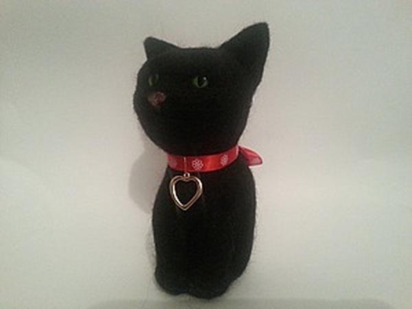 Черный котик Моня ищет свой новый домик. | Ярмарка Мастеров - ручная работа, handmade