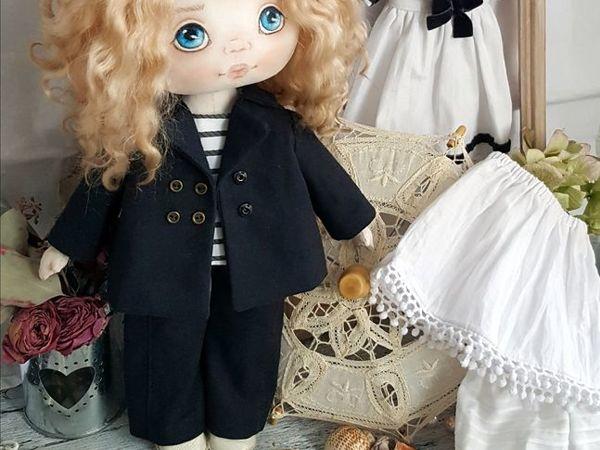 Шьем комплект в морском стиле для куклы. Часть 1   Ярмарка Мастеров - ручная работа, handmade