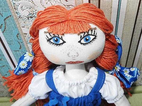 Делаем волосы из ниток для текстильной куколки   Ярмарка Мастеров - ручная работа, handmade