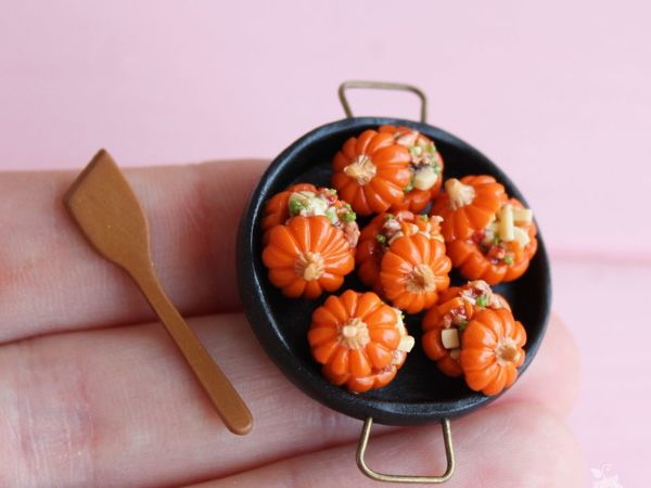 Miniature Stuffed Pumpkins Of Polymer Clay | Livemaster - handmade