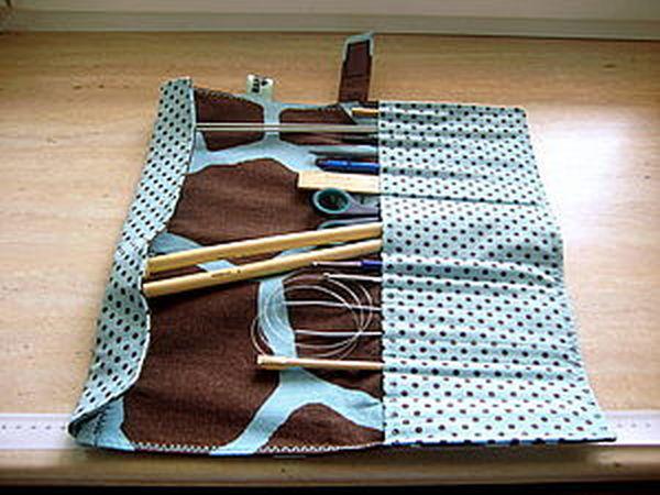 Чехол-пенал для спиц и крючков   Ярмарка Мастеров - ручная работа, handmade