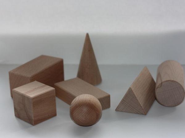 Набор геометрических фигур по Монтессори   Ярмарка Мастеров - ручная работа, handmade