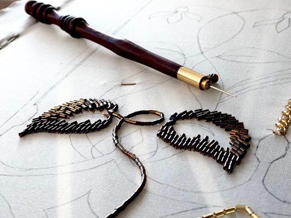 Проект по вышивке  «Витраж от Тиффани»  в процессе | Ярмарка Мастеров - ручная работа, handmade