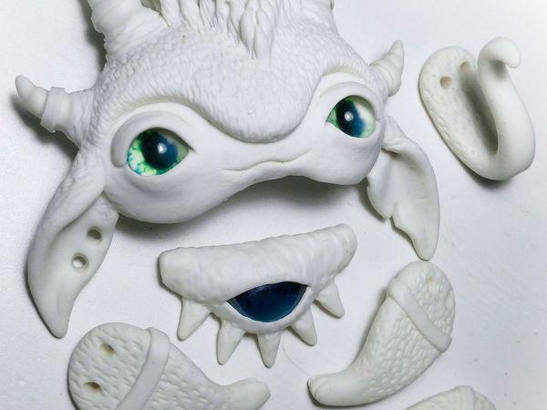 Процесс создания авторской игрушки из полимерной глины. Часть 2. Лепка лапок | Ярмарка Мастеров - ручная работа, handmade