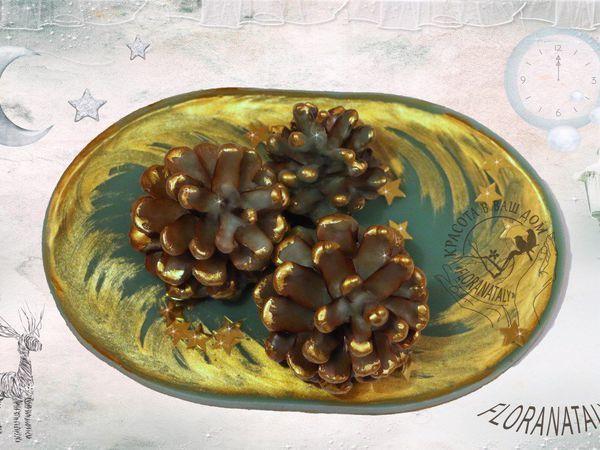 Декорируем шишки с помощью старых свечей | Ярмарка Мастеров - ручная работа, handmade