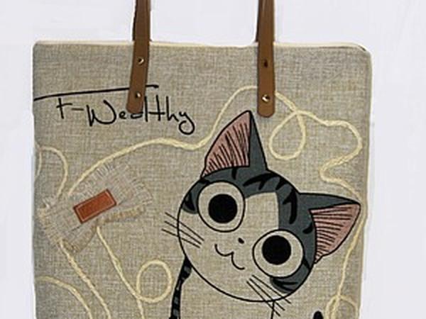 Шьем сумочку с котиком | Ярмарка Мастеров - ручная работа, handmade