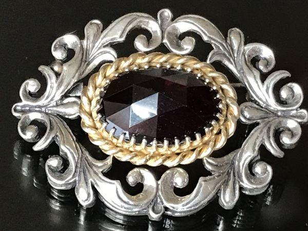 Королева украшений — крупная антикварная брошь | Ярмарка Мастеров - ручная работа, handmade