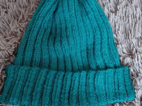 Вязаная шапка спицами резинкой 2Х2 | Ярмарка Мастеров - ручная работа, handmade