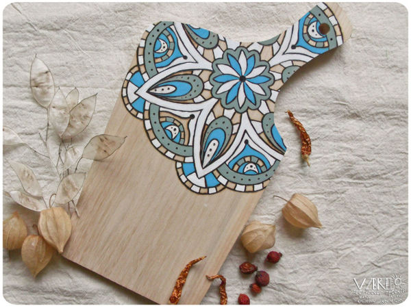 Decorate Cutting Board With Pyrography & Painting | Livemaster - handmade