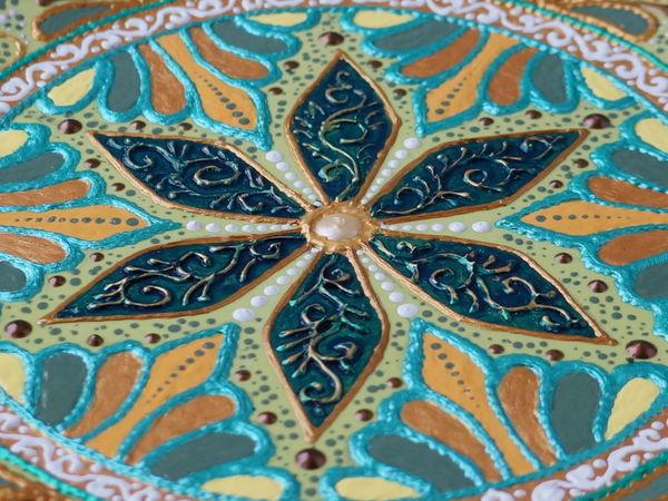 Роспись дотсами, контурами, кистью. | Ярмарка Мастеров - ручная работа, handmade