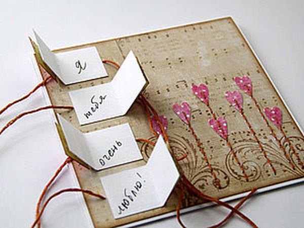 Скрапбукинг. Валентинка своими руками | Ярмарка Мастеров - ручная работа, handmade