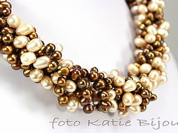 Эффектное ожерелье из жемчуга за пять минут | Ярмарка Мастеров - ручная работа, handmade
