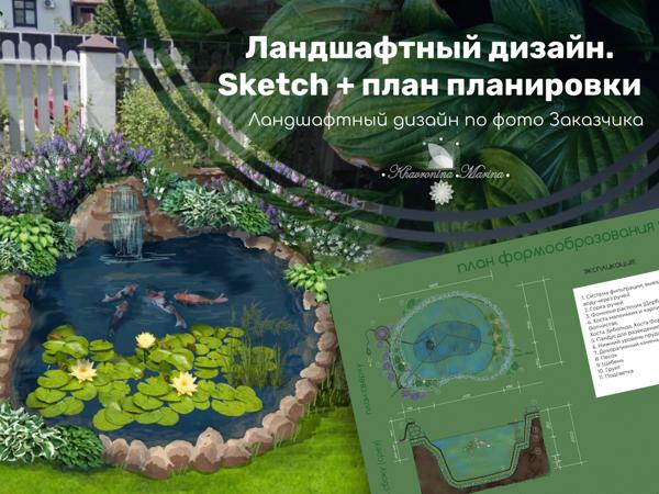 Ландшафтный дизайн-проект от и до с реализацией | Ярмарка Мастеров - ручная работа, handmade