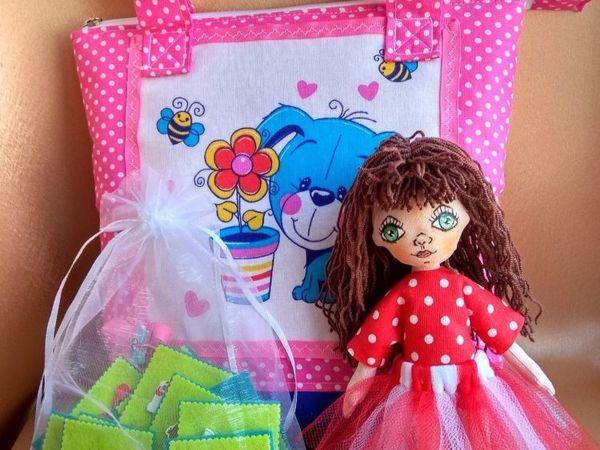 Набор — игровая куколка с одеждой в сумочке | Ярмарка Мастеров - ручная работа, handmade