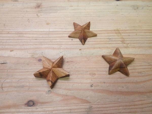 Все очень просто: вырезаем звездочки из дерева   Ярмарка Мастеров - ручная работа, handmade