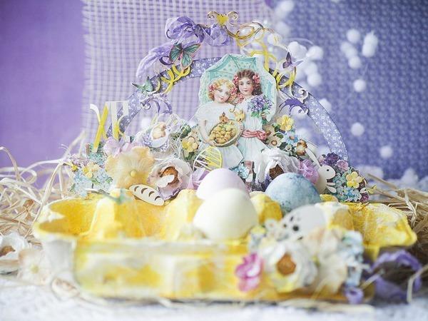 Творческое преображение картонной упаковки: делаем пасхальную подставку для яиц | Ярмарка Мастеров - ручная работа, handmade