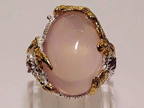 Эксклюзив ! Серебряное кольцо с розовым кварцем  « Amore »  | Ярмарка Мастеров - ручная работа, handmade