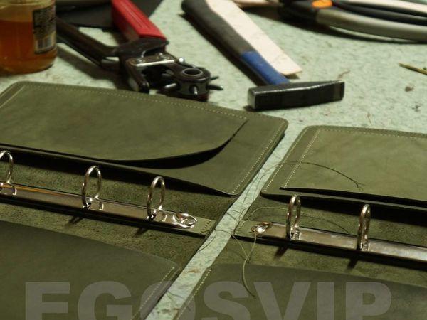 Разноцветные кожаные блокноты  с карманами   Ярмарка Мастеров - ручная работа, handmade