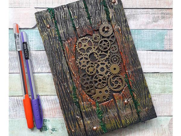 Декорируем блокнот своими руками. Имитация дерева | Ярмарка Мастеров - ручная работа, handmade