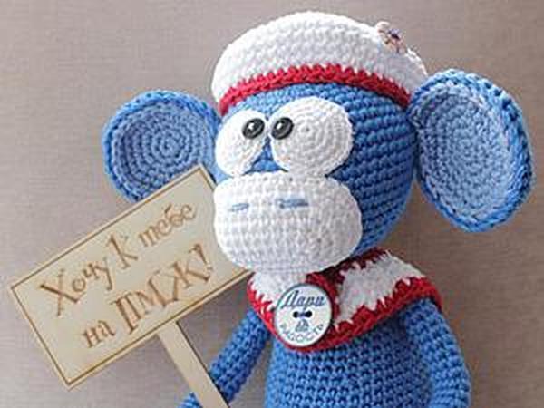 Вяжем крючком веселую обезьянку | Ярмарка Мастеров - ручная работа, handmade
