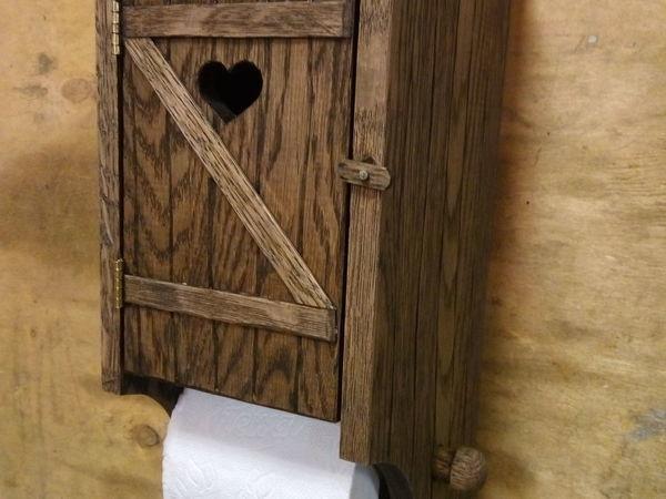 Мастерим деревянный держатель для туалетной бумаги | Ярмарка Мастеров - ручная работа, handmade