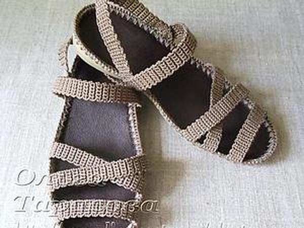 мастер класс вязаные сандалии или обувь из ничего мастер класс