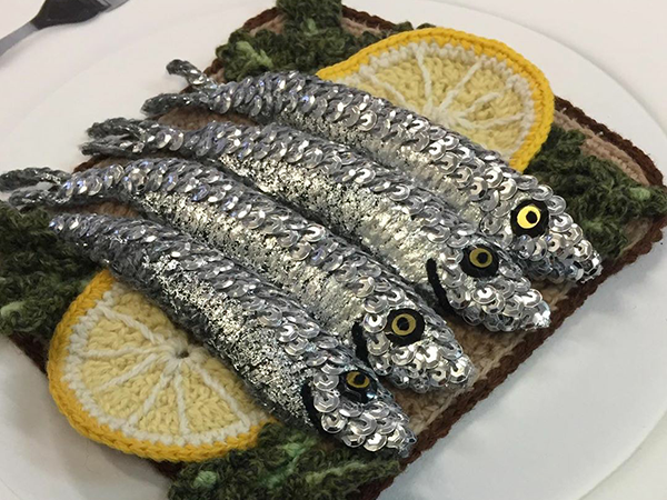 Adorable Sardines & Baguettes In Love: Knitted Food by Kate Jenkins | Livemaster - handmade