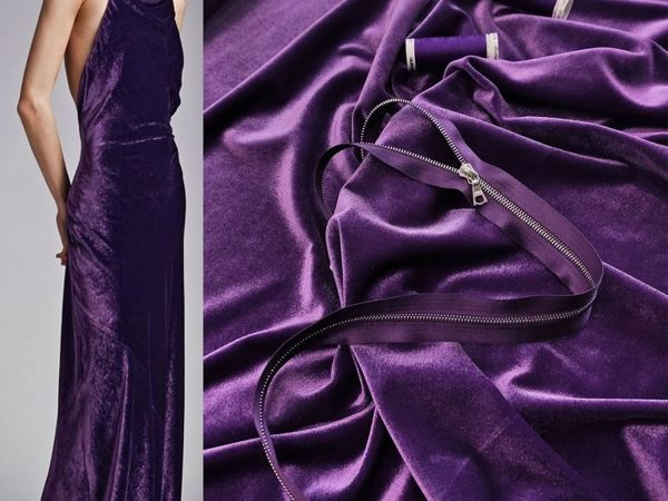 Бархат-стрейч пурпурный   Ярмарка Мастеров - ручная работа, handmade