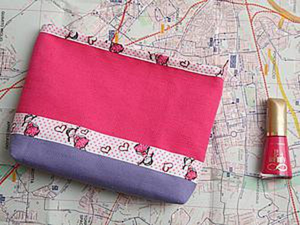An Easy Way to Sew a Bright Zip Vanity-Bag | Livemaster - handmade
