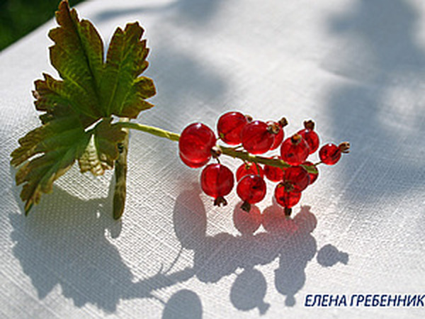 Красная смородина из эпоксидной смолы.   Ярмарка Мастеров - ручная работа, handmade