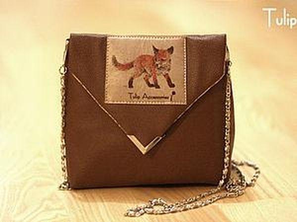 Маленькая лисья сумочка своими руками   Ярмарка Мастеров - ручная работа,  handmade 46053be463b
