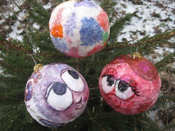 Делаем вместе с детьми ватные ёлочные шарики | Ярмарка Мастеров - ручная работа, handmade