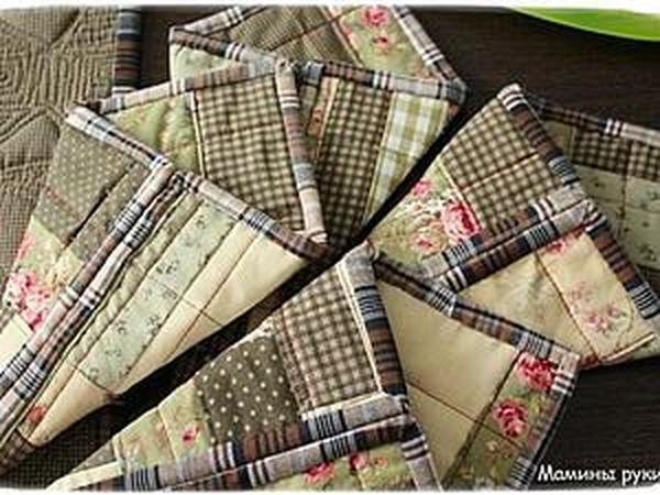 Двухстороннее лоскутное полотно: как сделать кармашки для столовых приборов   Ярмарка Мастеров - ручная работа, handmade