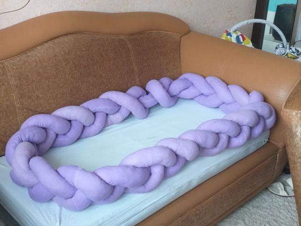 Шьем бортики-косичку в кроватку   Ярмарка Мастеров - ручная работа, handmade