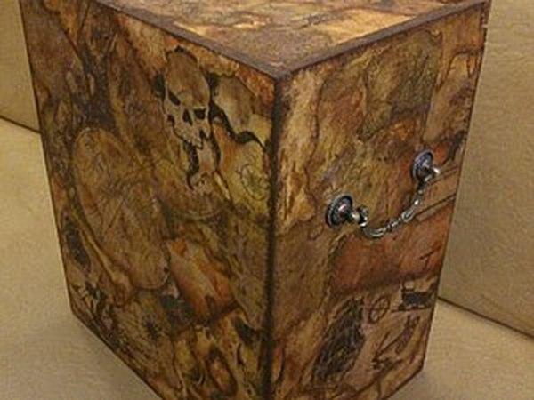 Декорирование винного ящика в технике жженого декупажа.   Ярмарка Мастеров - ручная работа, handmade