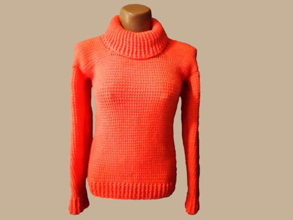 Вяжем свитер тунисским крючком — Коралловый Риф   Ярмарка Мастеров - ручная работа, handmade
