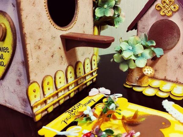 3 вида декоративных скворечников своими руками | Ярмарка Мастеров - ручная работа, handmade