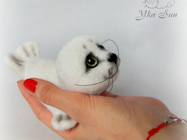 Валяем белоснежного нерпёнка МК | Ярмарка Мастеров - ручная работа, handmade