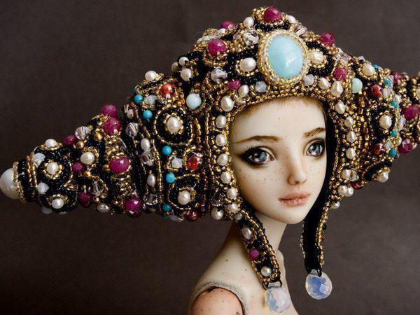 Головные уборы «чарующих кукол» Марины Бычковой | Ярмарка Мастеров - ручная работа, handmade